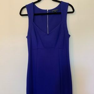 BRIGHT BLUE FITTED FRENCH CONNECTION DRESS